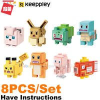 Enlighten Building Blocks Pokemon Quest Pikachu Charmander Squirtle Bulbasaur