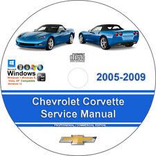 corvette 2005 to 2009 factory workshop service repair manual