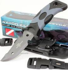 United Wahoo Killer Scuba Divers Diving Knife + Leg/Arm Straps + Locking Sheath