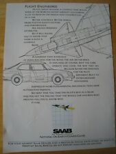 SAAB FLIGHT ENGINEERED POSTER ADVERT READY FRAME A4 SIZE FILE L