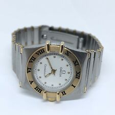 Ladies Omega Constellation 18K Stainless Water Resistant Wristwatch Super Clean