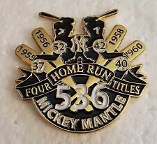 MICKEY MANTLE 4 HOME RUN TITLES Lapel Pin - NEW YORK YANKEES