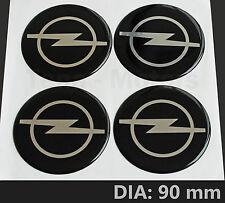 4 pièces x Opel Vauxhall 90 mm Centre De Roue Autocollant Vinyle Decal