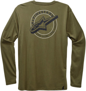 Alpinestars Men's Hoops Long Sleeve Tee T-Shirt (Military) XXL