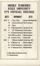 1975 Middle Tennessee State University Football Schedule jh62