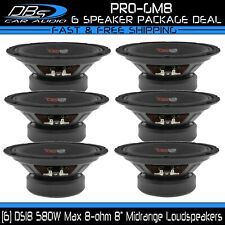 "6 DS18 PRO-GM8 8"" Midrange Speaker 3480W 8 ohm Pro Car Audio Midbass Loudspeaker"