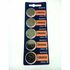 Sony CR2032 3v Lithium Watch Button Battery Pack of 5 (CMOS, BIOS, MOTHERBOARD)