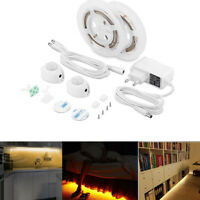 LED Under Cabinet light Motion Sensor LED Strip SMD2835 Night light+Power Supply