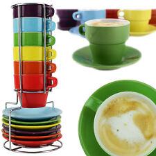 13tlg. Espressotasse mit Untertasse Set Stapeltassen Moccatasse Tasse Becher