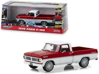 1970 Ford F-100 Ranger XLT Pickup Truck Candy Apple Red and Wimbledon White 1...