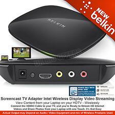 Belkin Screencast TV Adapter Intel Wireless Display Video Streaming HD F7D4501