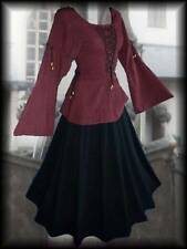 Mittelalter Mieder Bluse Grethlin rot bordeaux 36 38 40 42 44 Larp Reenactment