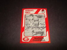 Marion Campbell Georgia's Finest 1989 Collegiate Collection #57 Signed Auto M7