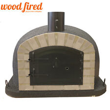 outdoor wood fired Pizza oven 100cm x 100cm black maxi deluxe black door