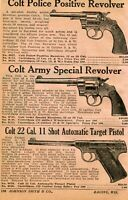 1934 small Print Ad of Colt Army Special Target Revolver, Police Positive Pistol