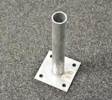 Fußplatte Adapter Bodenplatte für Rundpfosten 38. mm Ø Dübelplatte Montageplatte
