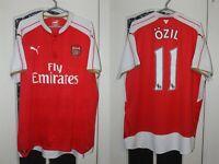 Arsenal London 2015 2016 Ozil Puma Home Shirt Jersey Trikot Size XXL