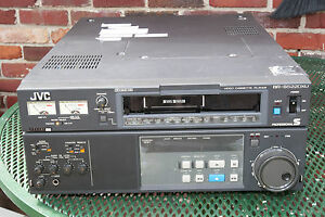 JVC BR-S522DXU Video Cassette Recorder/Player S-VHS Player with 1058 drum hours