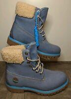 "New Timberland x Just Don Premium 6"" Denim Boots WP Wool Blue A1UXU Men's Sz 8"