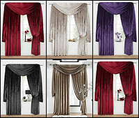 "VENEZIA PLAIN VELOUR VELVET 3"" TAPE TOP LINED CURTAINS - ACCESSORIES AVAILABLE"