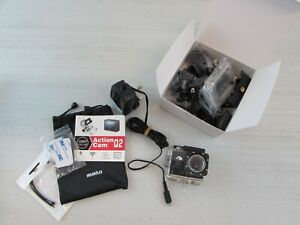 WIMIUS ACTION CAMERA Q2, HD, WI-FI, 1080P WITH MOUNTING BRACKETS & SPARES   #ET#