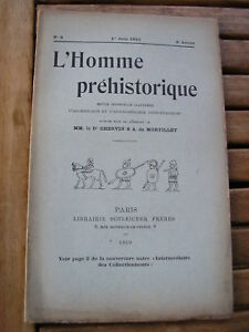 L'HOMME PREHISTORIQUE 1910 n°6 statue-ménhir à Guernesey ...