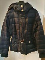 CLASS ROBERTO CAVALLI Feather/Down Puffa Jacket-Black Size US6 (UK10)