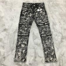 New Rebel Minds Embroidered Strap Jeans Mens Size 32 x 32 Black MSRP $120.00