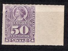CHILE 1880 Roulets Sc.35 50 cts violet Colon Columbus border sheet MVLH