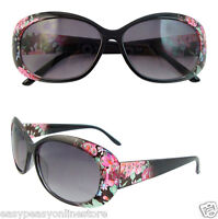 Floral Ladies Oversized Fashion Sunglasses Designer Large Womens UV400 Eyewear