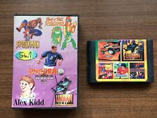 """5 in 1: Rock'n'Roll Racing, Spiderman..."" Sega Mega Drive/Genesis Game USED"