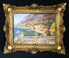 IMAGE IMAGE PAYSAGE MAISON AU BORD DU LAC Blick Tableau mural avec cadre 57x47