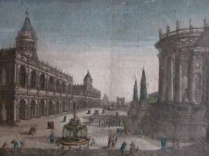 Rome fantasy ancient era view c.1760 Europe city view vue d'optique print