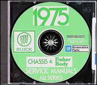 1975 Buick CD Shop and Body Repair Manuals Riviera Regal Century LeSabre Electra