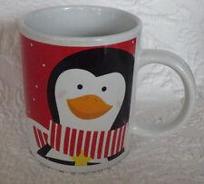"""Just For You Penguin Christmas Tea Coffee Mug 4"""" Tall"""