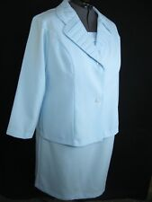 Mother of Bride Blue Women's Wedding Formal Church party Dress suit  24W EUC!