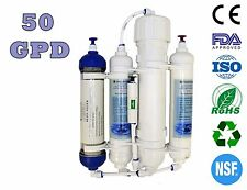 Finerfilters Aquatic 4 Stage 50GPD Compact Reverse Osmosis System - RO & DI Unit