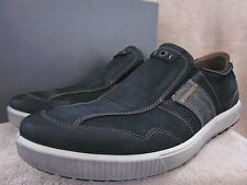 Ecco Outlet Ecco Mens Ennio Black Cognac Leather Slip On Shoes Us 11 11 5 Eur 45 Nwb