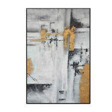 "YA830 Decor Abstract Gold Foil Canvas Oil Painting Hand-painted Unframed 24""x36"""