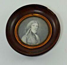 Portrait miniature d'un noble d'époque empire