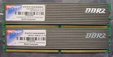 2 x PATRIOT Desktop Ram 1GB PC2-6400 DDR2 DIMM PEP21G6400EL - 2GB Total
