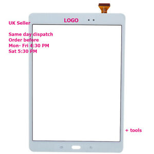 """For Samsung Galaxy Tab A 9.7"""" T550 T555 Touch Screen Digitizer Glass white"""