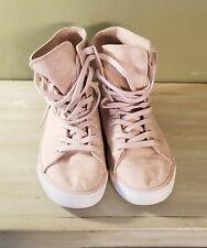Light Pink Pastry Cassatta 5.5 Adult Stretch Canvas High Tops Shoes Retro EUC