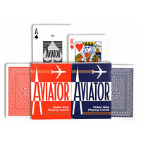 Aviator STANDARD index playing cards Poker 914 Magic USPCC Red or Blue 1 Deck