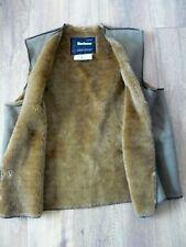 Barbour Jacket  A297 Warm Pile faux Fur Lining gilet C40/102cm popper fastening