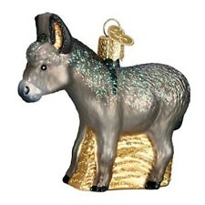 Old World Christmas 12312 Glass Blown Donkey Ornament