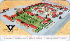 TUCSON, Arizona  AZ    Roadside  GHOST RANCH LODGE  1957    Postcard