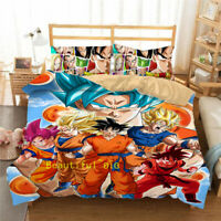 Dragon Ball Single/Double/Queen/King Bed Doona/Quilt/Duvet Cover Set Pillow Case