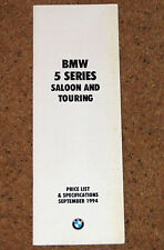 1994 BMW 5 SERIES E39 PRICE LIST & SPECIFICATIONS - M5 Saloon Touring 525iX 540i