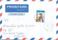 Senegal  Air Mail cover to Finland ( Mather Teresa )